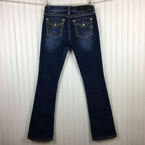 Miss Me Signature Boot Dark Wash Faded Jeans